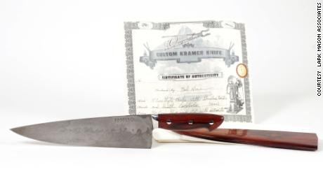 Bob Kramer Knife Custom Order Given to Bourdain in 2016.