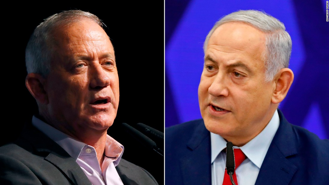 Benjamin Netanyahu's re-election plans in limbo as Israeli exit polls show tight contest