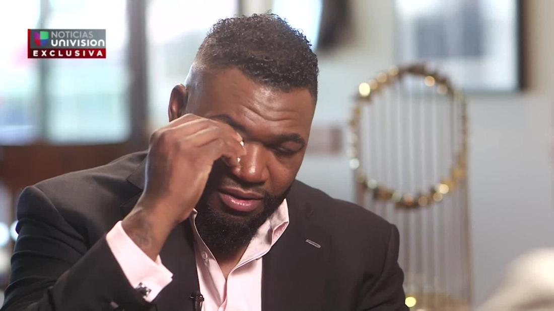 David Ortiz tears up in first interview since he was shot