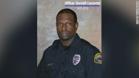 Tuscaloosa police officer Dornell Cousette was killed as he attempted to make a felony arrest, police say.