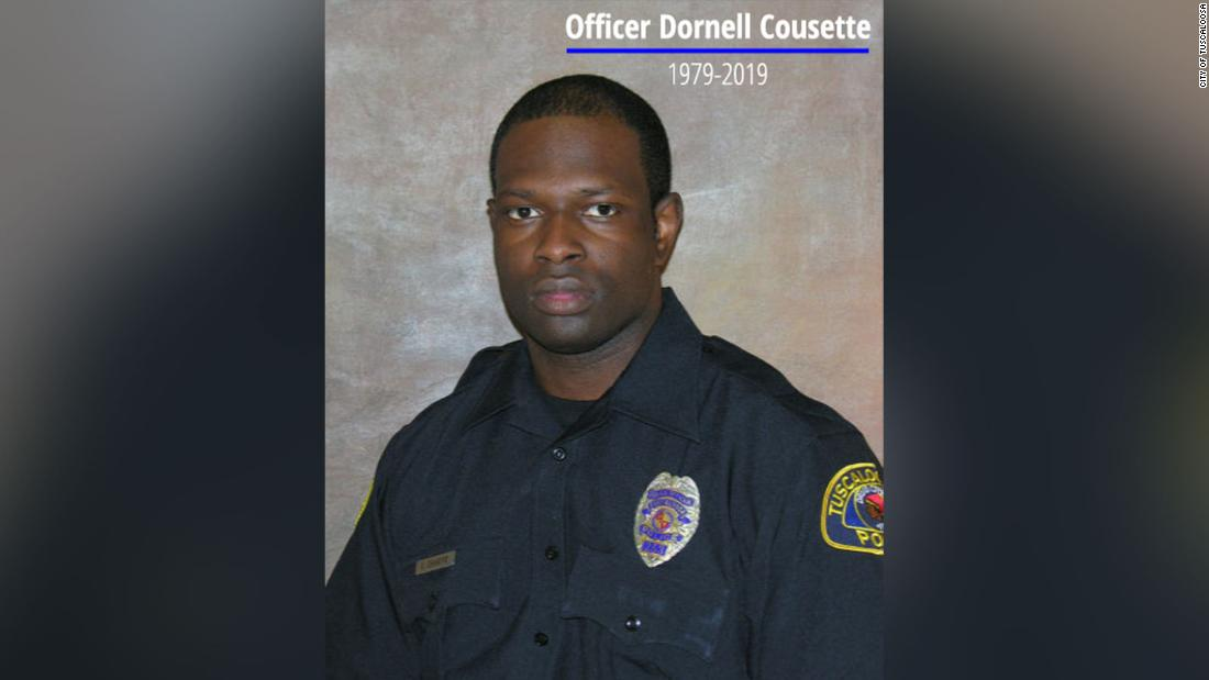 An Alabama police officer died in the line of duty