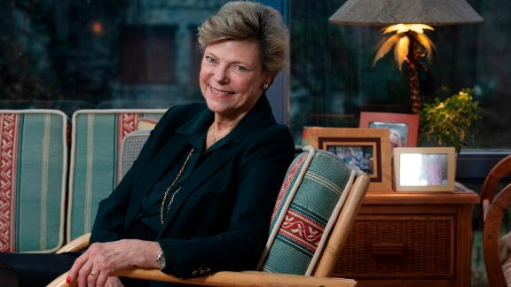 Cokie Roberts photographed in her home in Bethesda, Maryland on February 05, 2019. (Photo by Marvin Joseph/The Washington Post via Getty Images)