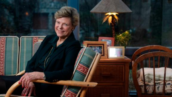 Journalist and author Cokie Roberts photographed in her home in Bethesda, Maryland on February 05, 2019.