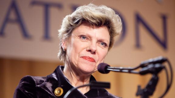 WASHINGTON - FEBRUARY 10: Journalist Cokie Roberts appears at the National Press Foundation