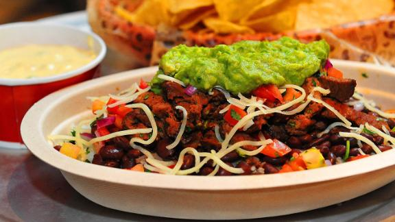 Chipotle's new Carne Asada can be made into a burrito bowl.