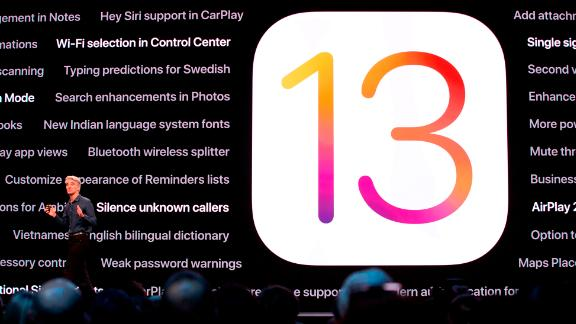 Apple's senior vice president of Software Engineering Craig Federighi talks about the company's upcoming iOS 13, Catalina, during Apple's Worldwide Developer Conference (WWDC) in San Jose, California on June 3, 2019. (Photo by Brittany Hosea-Small / AFP)        (Photo credit should read BRITTANY HOSEA-SMALL/AFP/Getty Images)