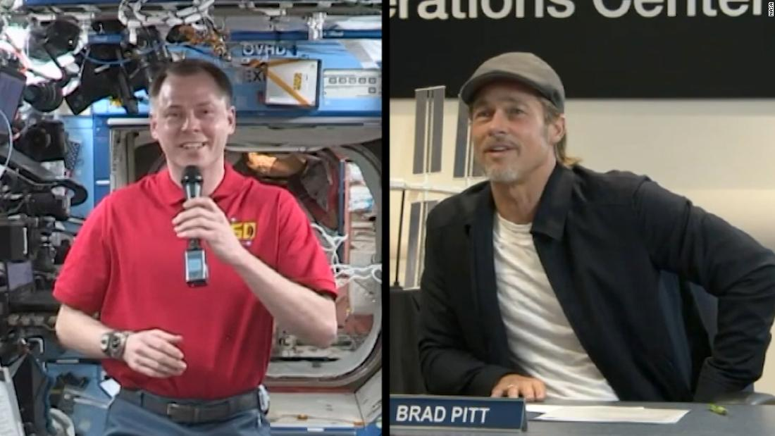 Brad Pitt asks space station for review of his new movie