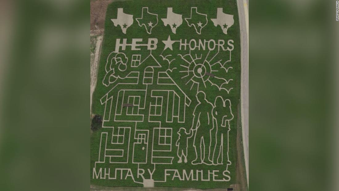 This giant Texas corn maze honors military families