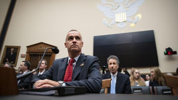 """Corey Lewandowski, former campaign manager for U.S. President Donald Trump, arrives to testify during a House Judiciary Committee hearing in Washington, D.C., U.S., on Tuesday, Sept. 17, 2019. Lewandowski promised to """"be as sincere in my answers as the committee is in its questions"""" in a combative opening statement challenging the Committee"""