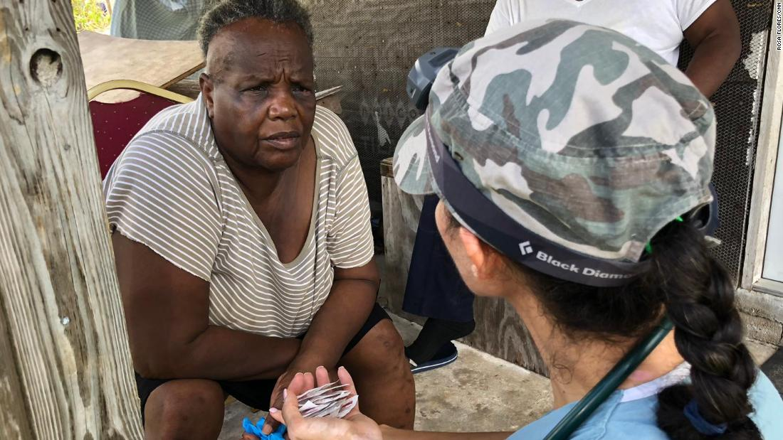 Jennifer Jones gets a medical check from physician assistant Andrea Krasniansky.