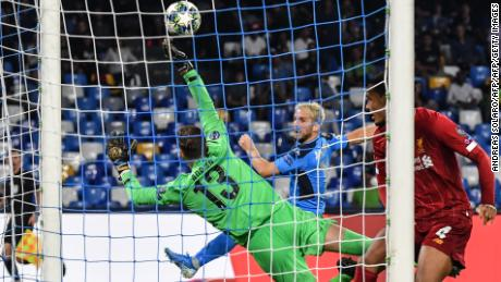 Adrian pulled off a stunning save to deny Mertens, but it proved to be in vain.