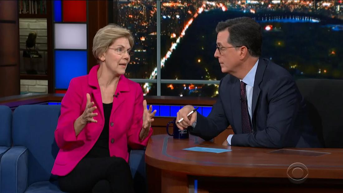 Here's the one issue Warren says she and Trump agree on