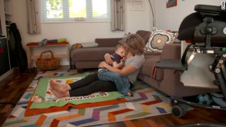 lmarie Braun at home with her son Eddie.