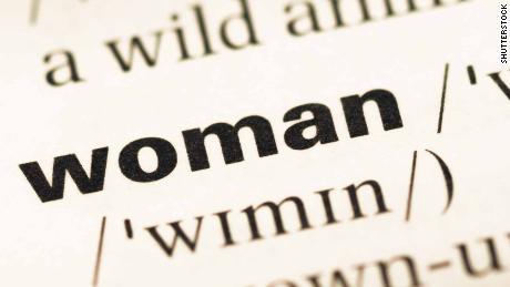 The word 'woman' is being redefined in one series of dictionaries.