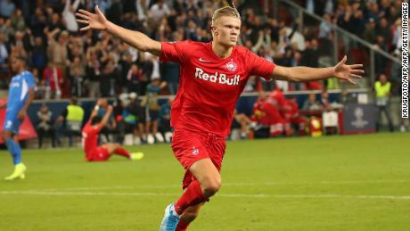 19-year-old Håland scores hat-trick on Champions League debut