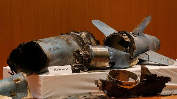 The Saudi defense ministry on Wednesday displayed videos and photographs of what it said were Iranian weapons.