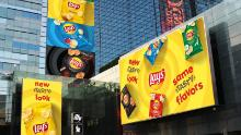 Lay's is advertising its new takeover in city centers.