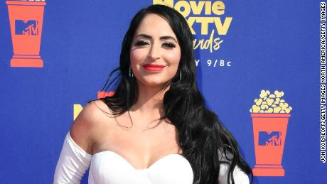 SANTA MONICA, CALIFORNIA - JUNE 15: Angelina Pivarnick attends the 2019 MTV Movie and TV Awards at Barker Hangar on June 15, 2019 in Santa Monica, California. (Photo by Jon Kopaloff/Getty Images)