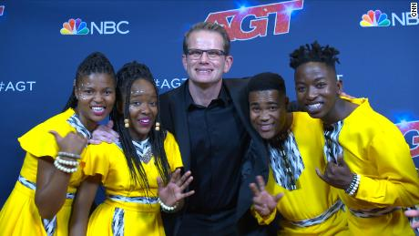 Ndlovu youth choir members with choir director, Ralf Schmitt