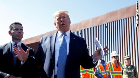 U.S. President Donald Trump speaks during his visit to a section of the U.S.-Mexico border wall in Otay Mesa, California, U.S. September 18, 2019. REUTERS/Tom Brenner