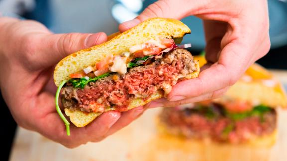 The Impossible Burger is hitting grocery shelves for the first time this week.