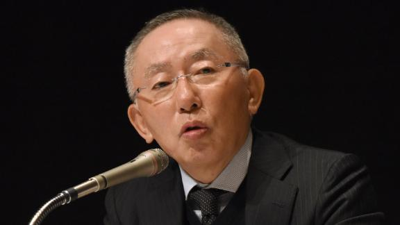 Tadashi Yanai, chairman and president of Japan's Fast Retailing which owns Uniqlo and other brands, gestures as he answers questions during a workshop at Waseda University in Tokyo on January 19, 2016. Some 300 students and young executives took part in the event to learn business from Yanai.    AFP PHOTO / Toru YAMANAKA / AFP / TORU YAMANAKA        (Photo credit should read TORU YAMANAKA/AFP/Getty Images)