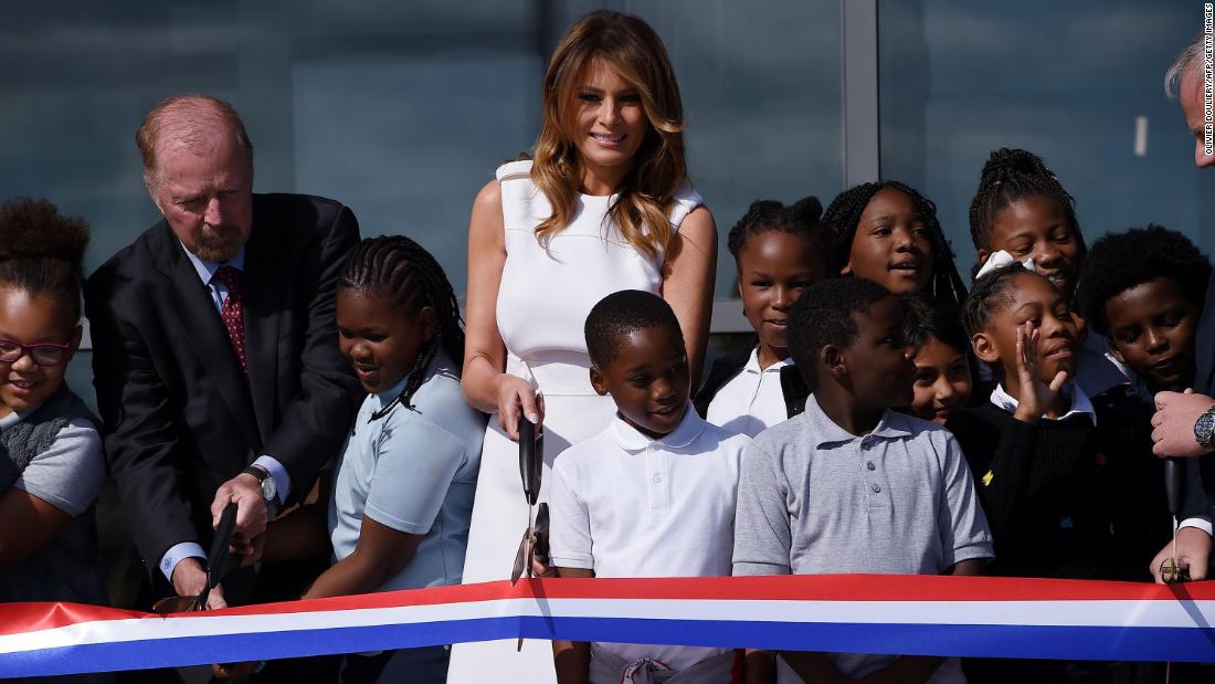 Melania Trump participates in reopening of Washington Monument