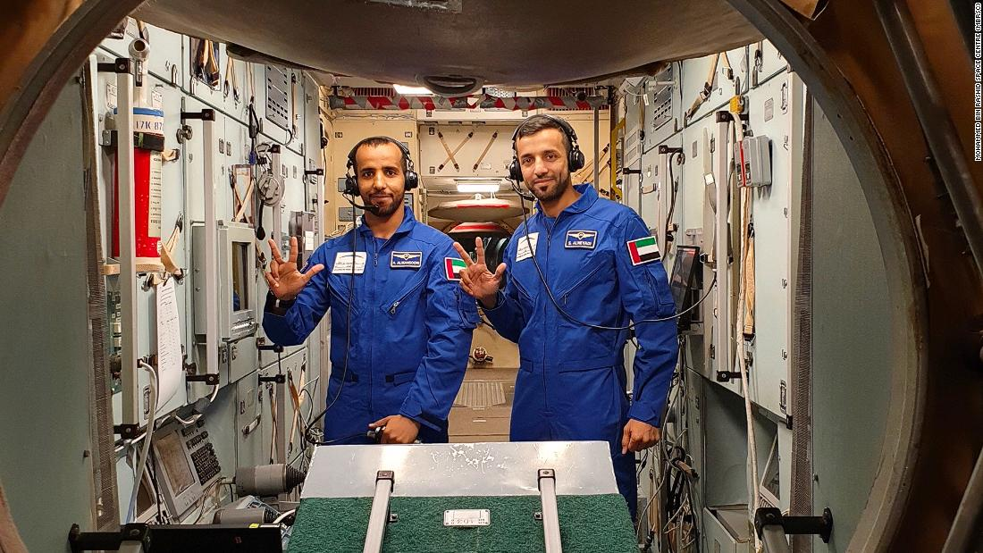 AlMansoori (L), shown here with mission backup astronaut Sultan AlNeyadi, also had to master the incredibly complex systems inside the Soyuz capsule. Both astronauts had to learn Russian in order to operate it.