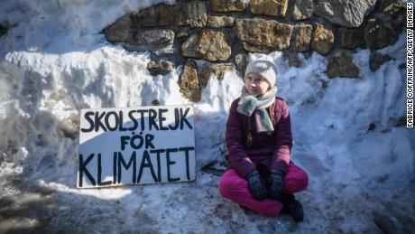 Greta Thunberg took her sign and her protest to Davos, to the sidelines of the World Economic Forum, in January.