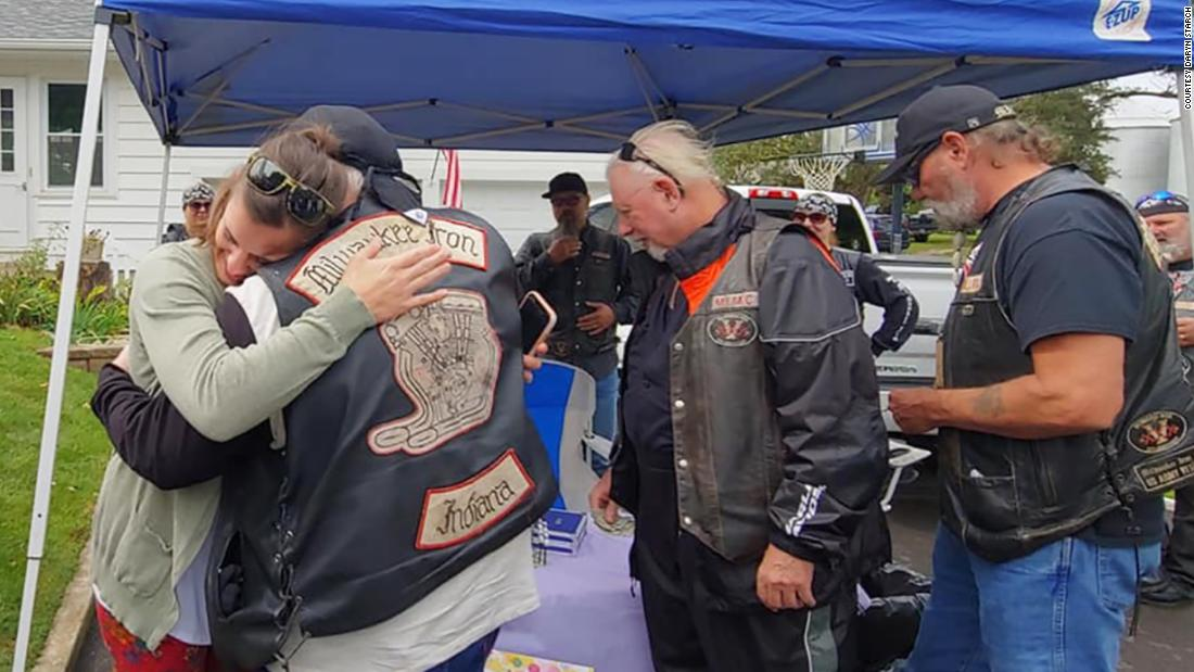 A nurse stopped to help a motorcycle group in a terrible accident. A year later they showed up to support her daughter