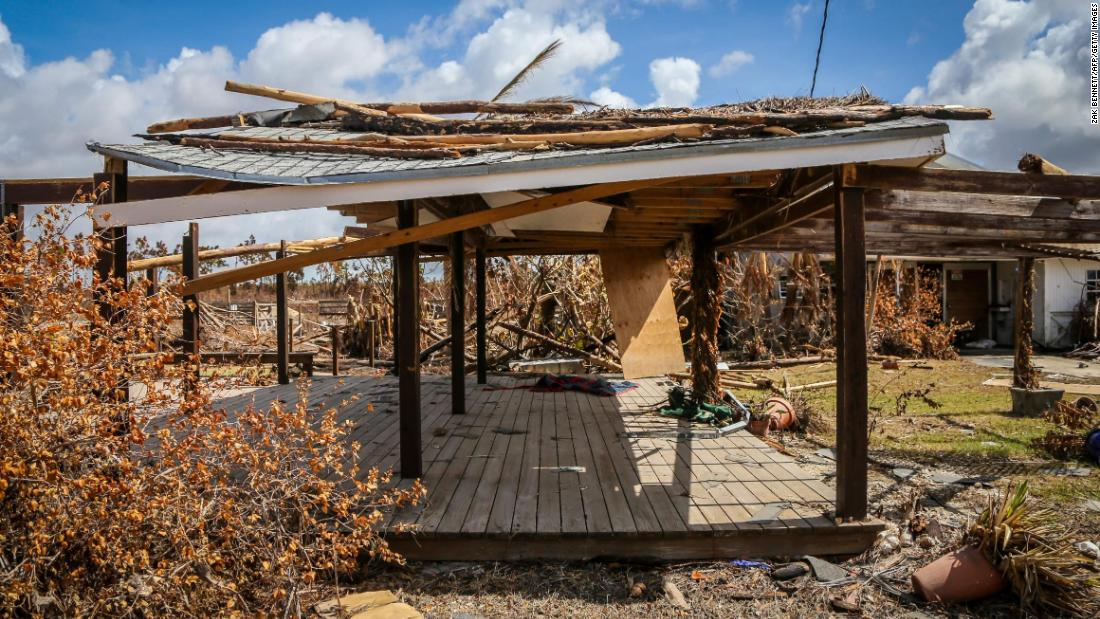 Freetown Farm, the largest farm in East Grand Bahama, is destroyed. One employee died, and all 100 animals are either missing or dead. (Credit: CNN)