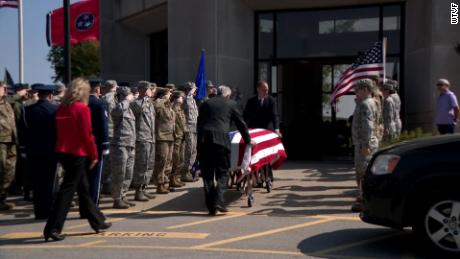 United States Air Force veteran Lyndon Badgett had a packed funeral