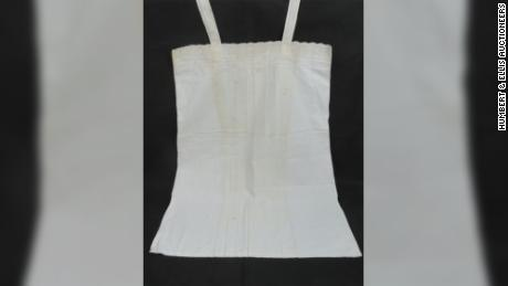 A white lace nightgown bearing Eva Braun's personal monogram was also sold in the auction.
