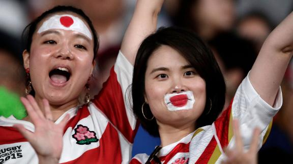 The match between Japan and Russia was preceded by the tournament's opening ceremony.