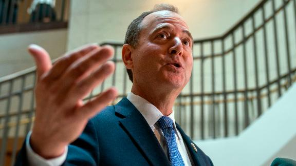 House Intelligence Committee Chairman Adam Schiff speaks to reporters after the panel met behind closed doors with national intelligence inspector general Michael Atkinson about a whistleblower complaint, at the Capitol in Washington.