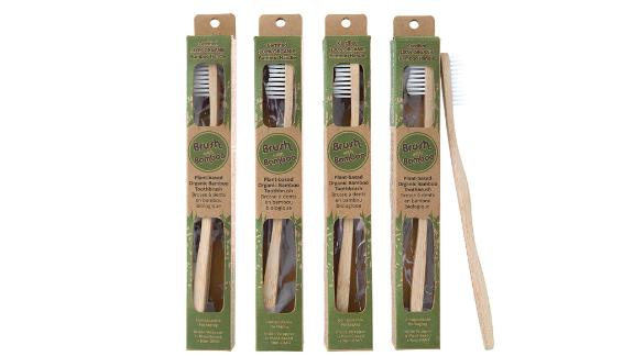 Brush With Bamboo Toothbrush, 4-Pack