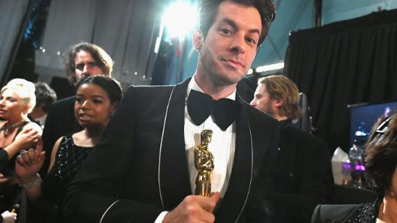 HOLLYWOOD, CA - FEBRUARY 24:  In this handout provided by A.M.P.A.S., Mark Ronson poses with the Music (Original Song) award for 'Shallow' from 'A Star Is Born' backstage during the 91st Annual Academy Awards at the Dolby Theatre on February 24, 2019 in Hollywood, California.  (Photo by Matt Petit - Handout/A.M.P.A.S. via Getty Images)