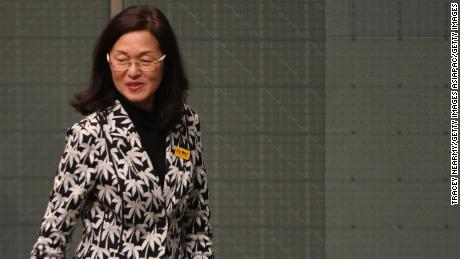 Liberal backbencher Gladys Liu arrives at Question Time at Parliament House on September 12 in Canberra, Australia.