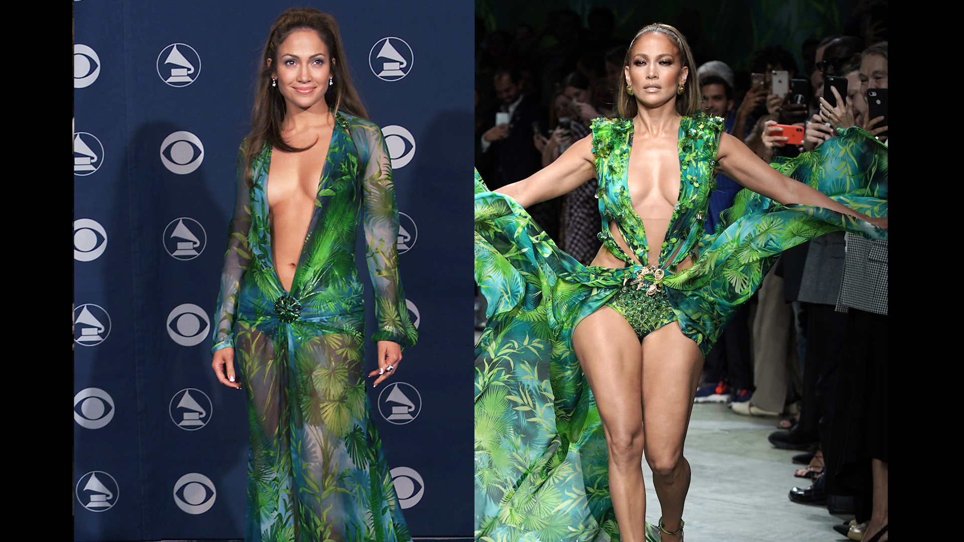 J Lo Shuts Down Fashion Week In Iconic Green Dress Cnn Video