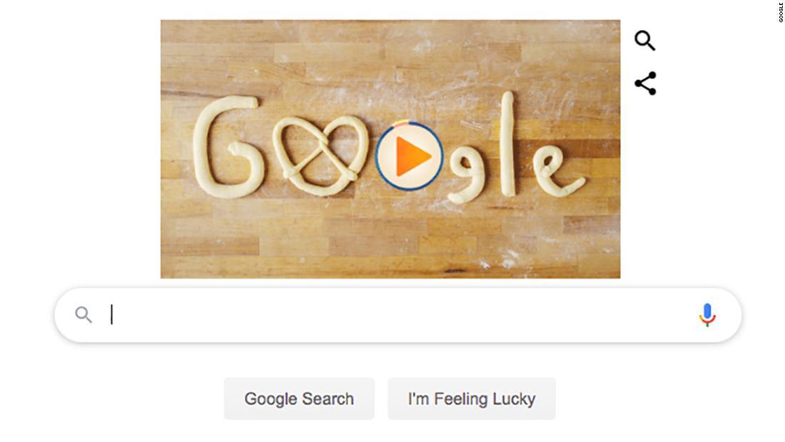Google merayakan awal Oktoberfest dengan pretzel doodle