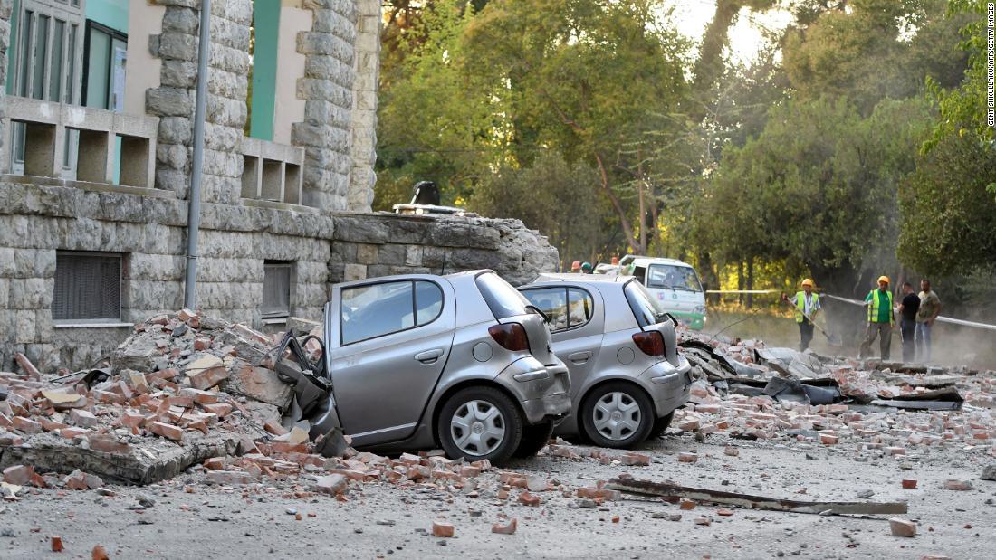 Dozens hurt in earthquake in Albania