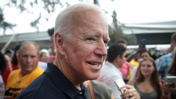 Former Vice President Joe Biden attends the Polk County Democrats