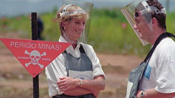 Princess Diana visited a former minefield in Huambo, Angola, shortly before her death in 1997.