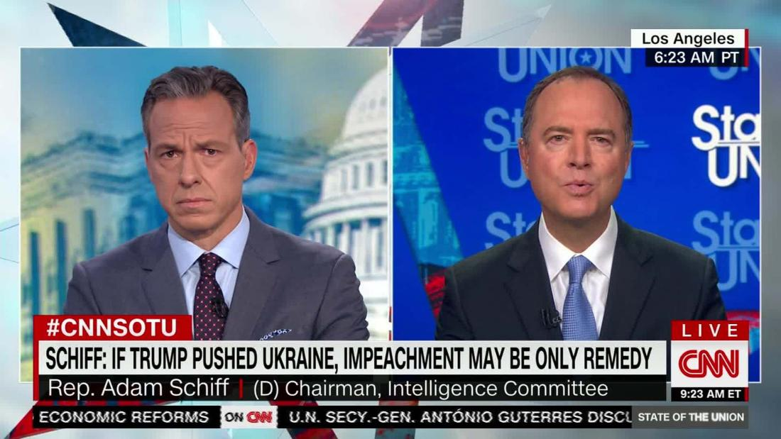Schiff: Impeachment may be 'only remedy' if Trump pushed Ukraine
