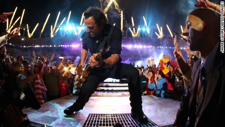 Springsteen and the E Street Band perform at Super Bowl XLIII in Tampa on February 1, 2009