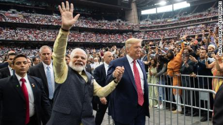 Indian prime minister Narendra Modi bills Trump as 'true friend' in White House at Houston rally