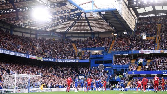 Trent Alexander-Arnold scores Liverpool's wonderful first goal at Stamford Bridge.