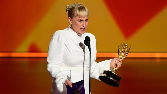 Patricia Arquette onstage during the 71st Emmy Awards in Los Angeles on September 22, 2019.