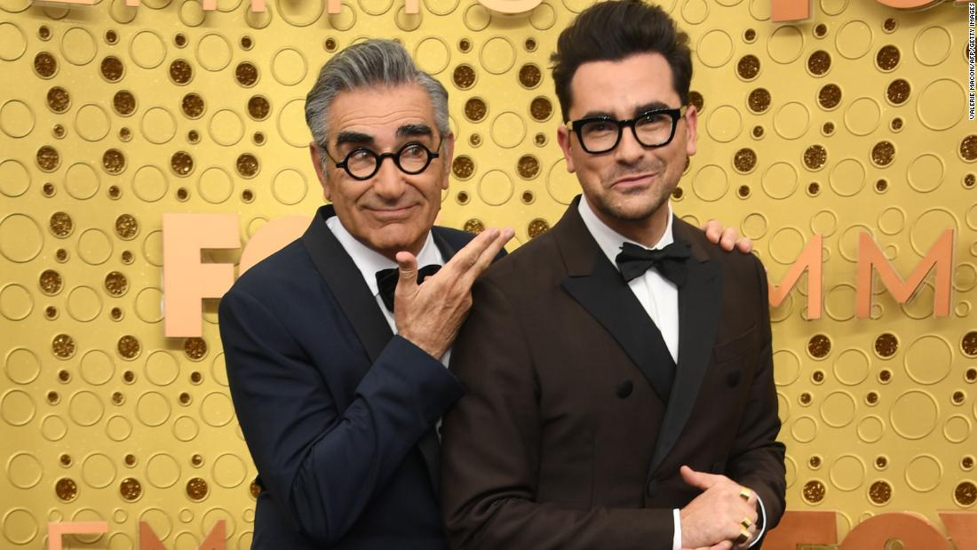 Left to right: Eugene Levy and his son Daniel Levy