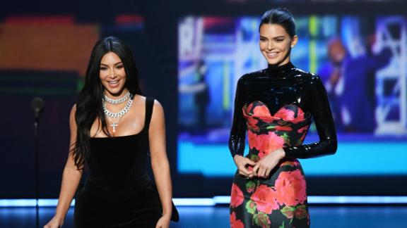 LOS ANGELES, CALIFORNIA - SEPTEMBER 22: (L-R) Kim Kardashian West and Kendall Jenner speak onstage during the 71st Emmy Awards at Microsoft Theater on September 22, 2019 in Los Angeles, California. (Photo by Kevin Winter/Getty Images)